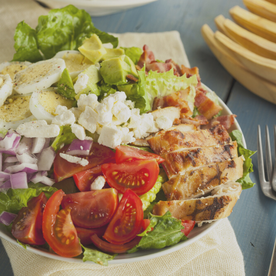 Grilled Chicken Cobb Salad With Honey Mustard Dressing